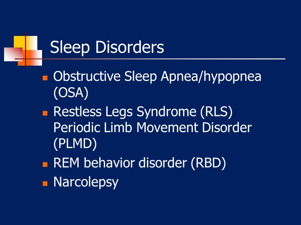 Sleep Disorders Obstructive Sleep Apnea/hypopnea (OSA)