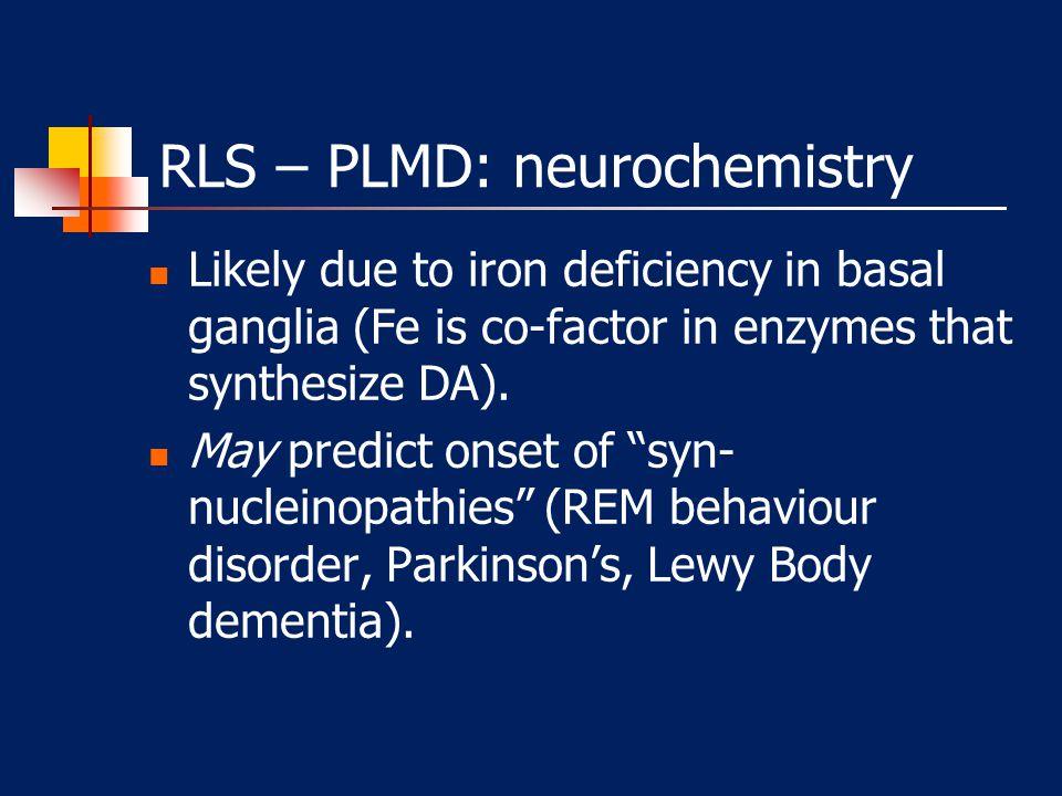 RLS – PLMD: neurochemistry
