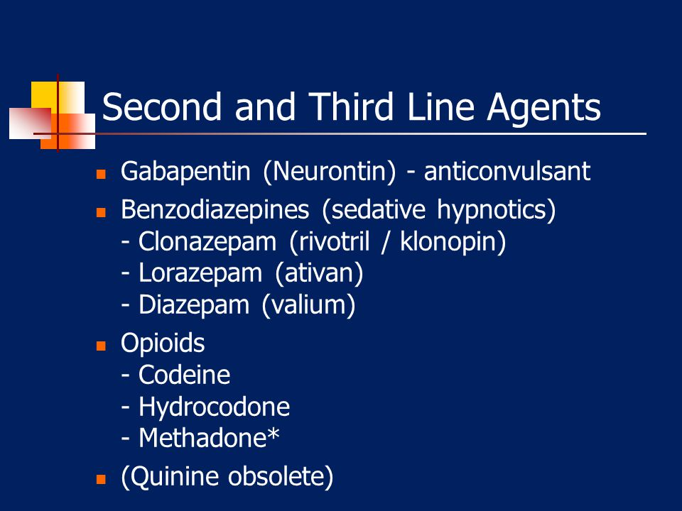 Second and Third Line Agents