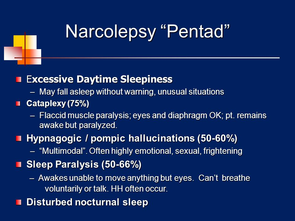Narcolepsy Pentad Excessive Daytime Sleepiness