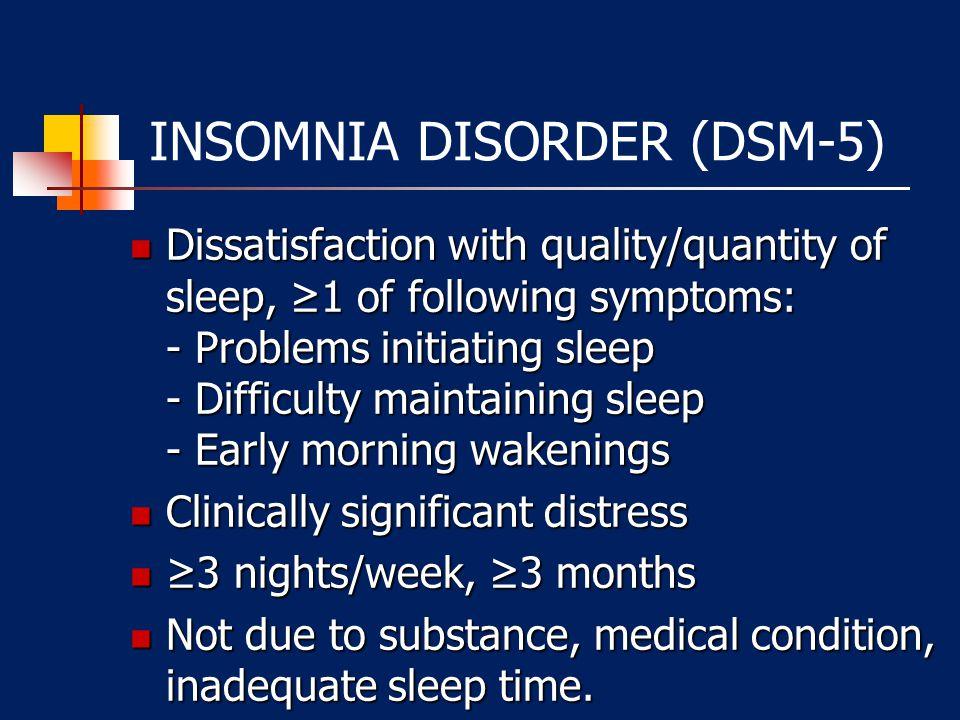 INSOMNIA DISORDER (DSM-5)