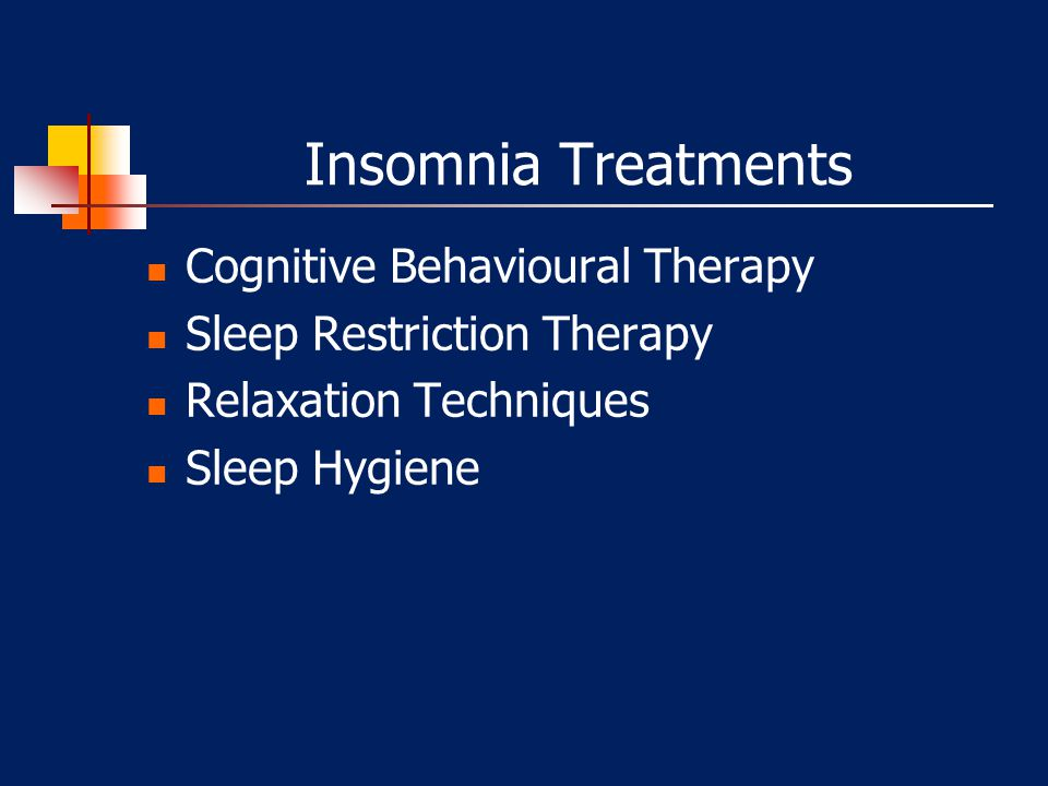 Insomnia Treatments Cognitive Behavioural Therapy