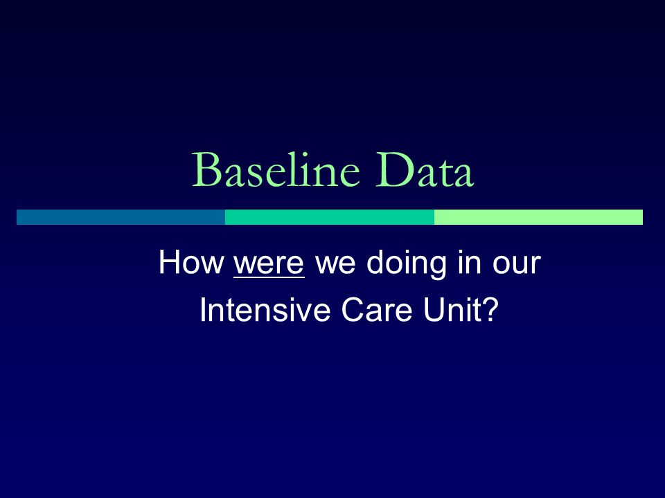 How were we doing in our Intensive Care Unit
