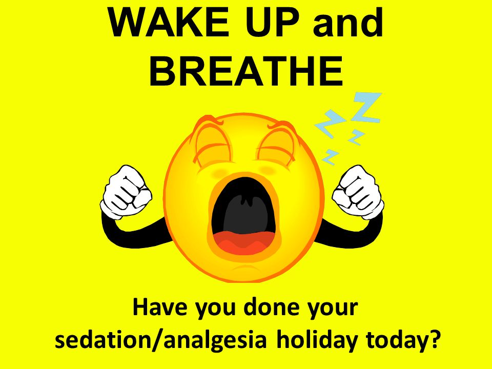 sedation/analgesia holiday today