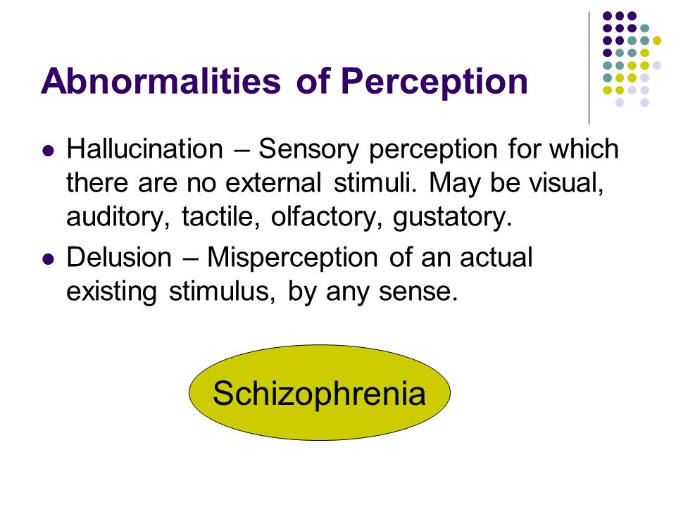 Abnormalities of Perception