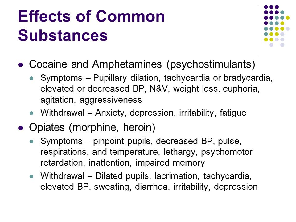 Effects of Common Substances