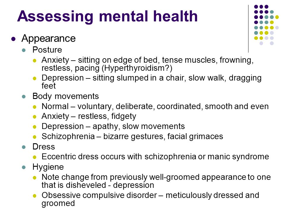 Mental Status Assessment  Ppt Video Online Download