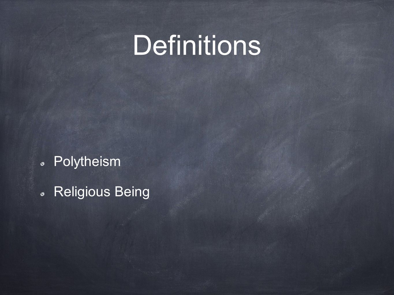 Definitions Polytheism Religious Being