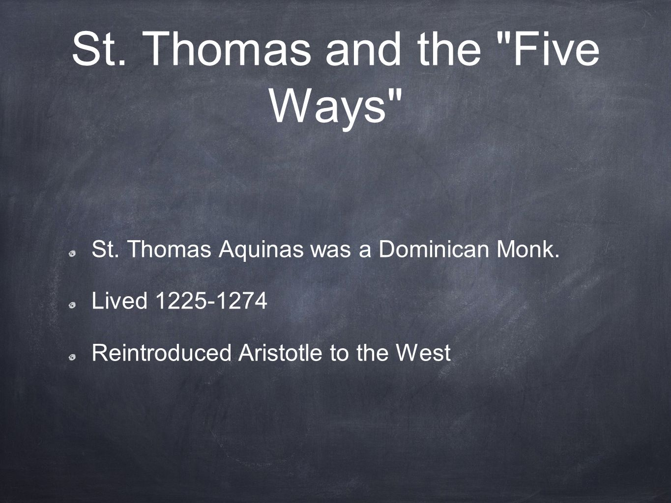 St. Thomas and the Five Ways