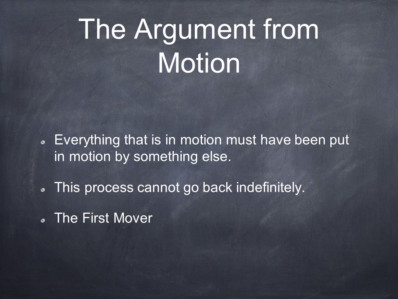 The Argument from Motion