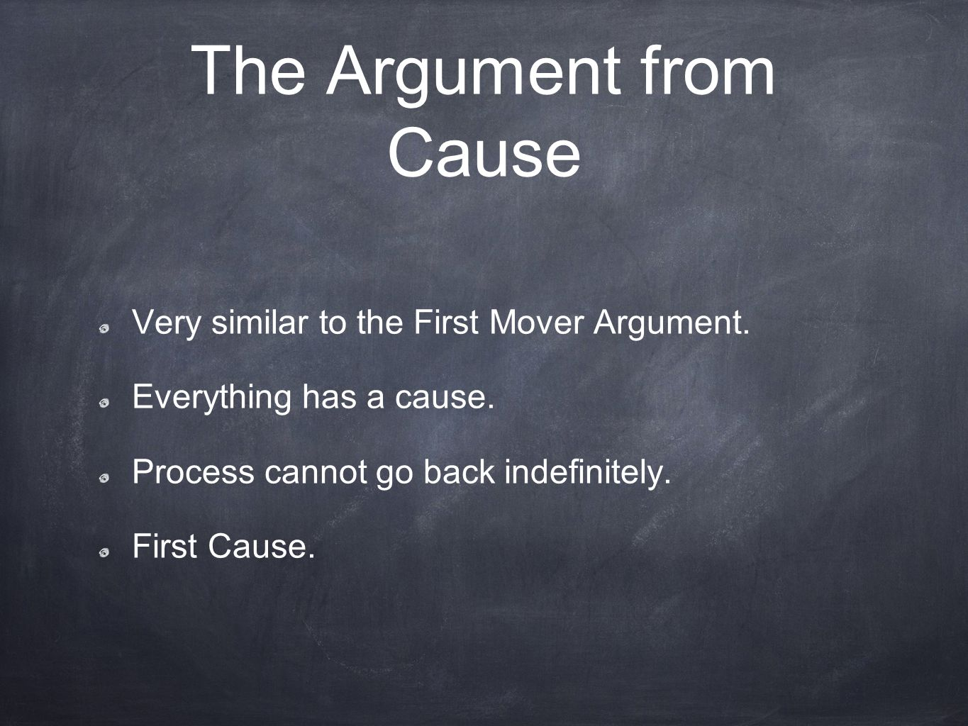 The Argument from Cause