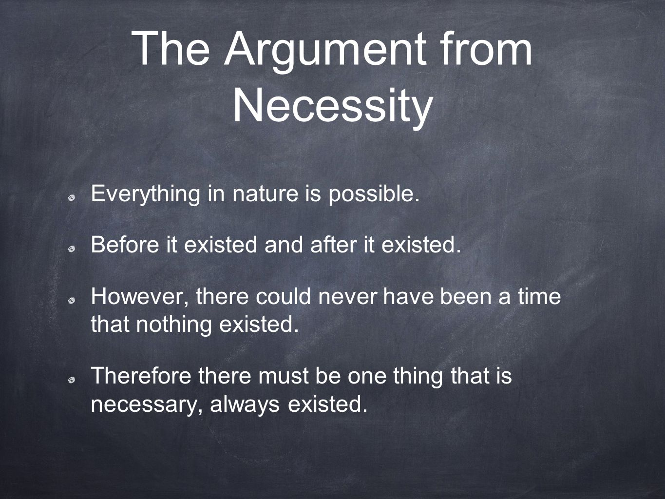 The Argument from Necessity