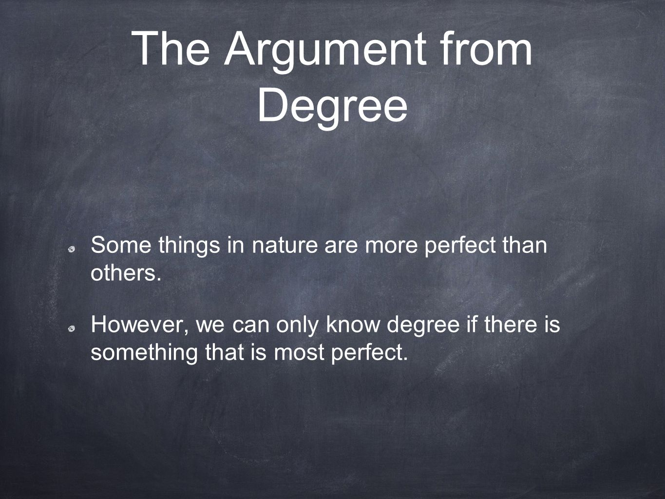 The Argument from Degree