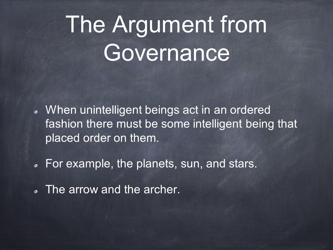 The Argument from Governance