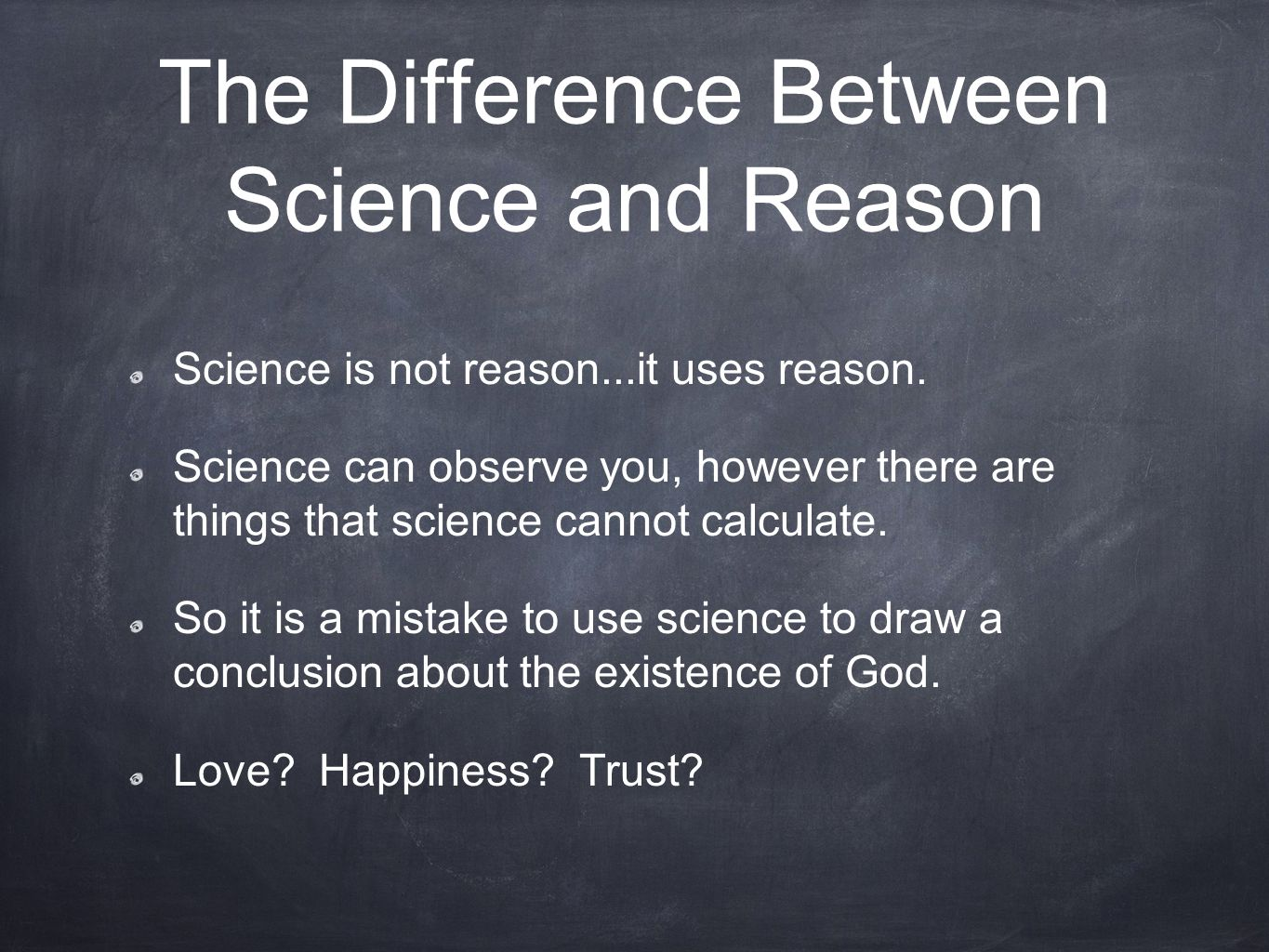 The Difference Between Science and Reason