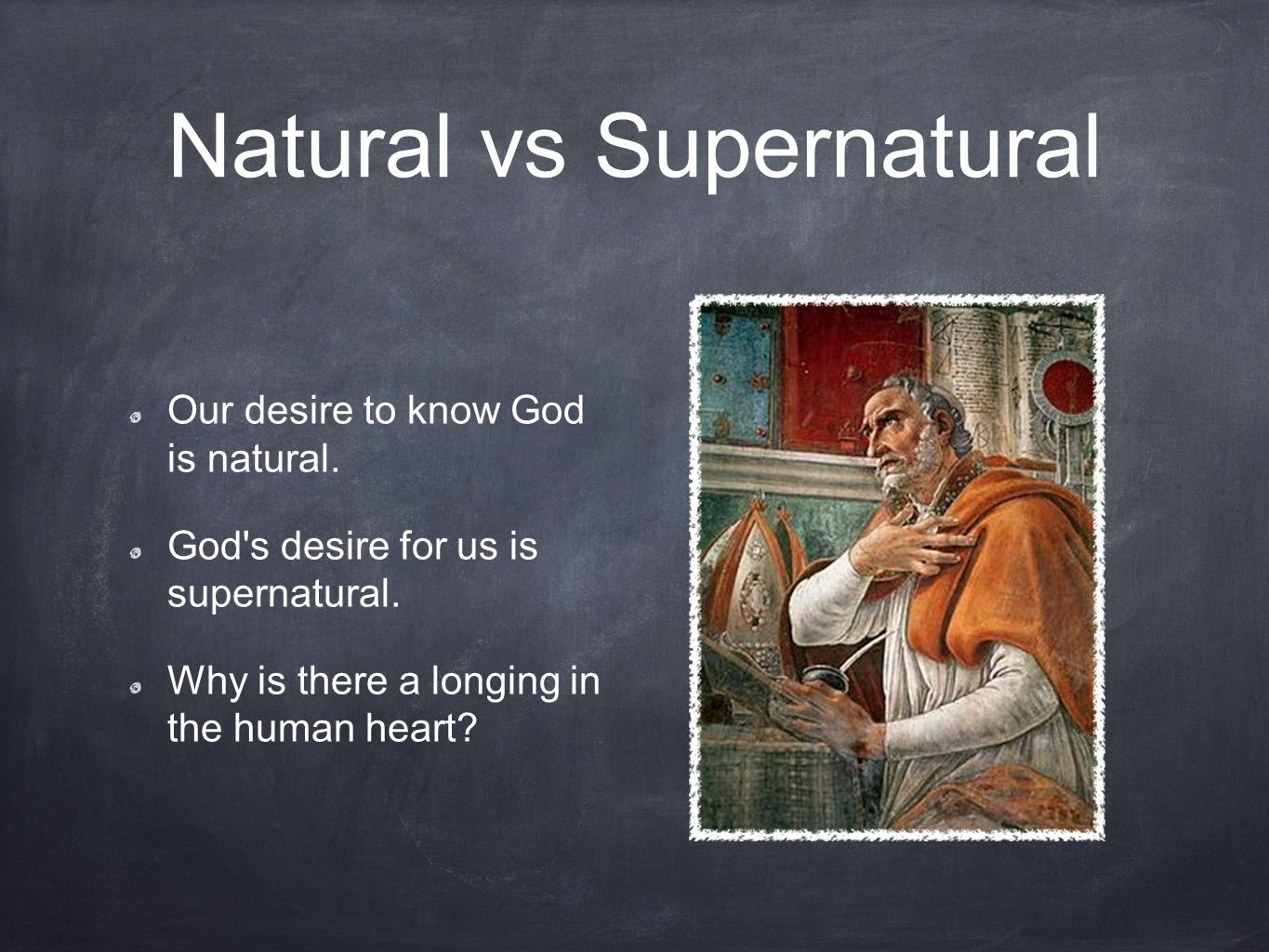 Natural vs Supernatural