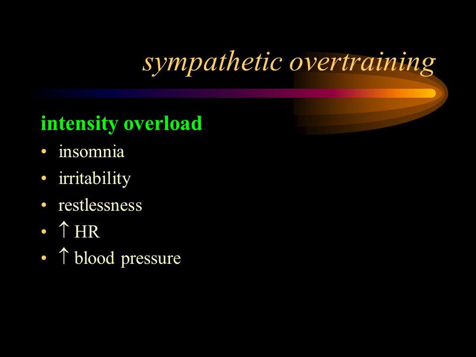sympathetic overtraining
