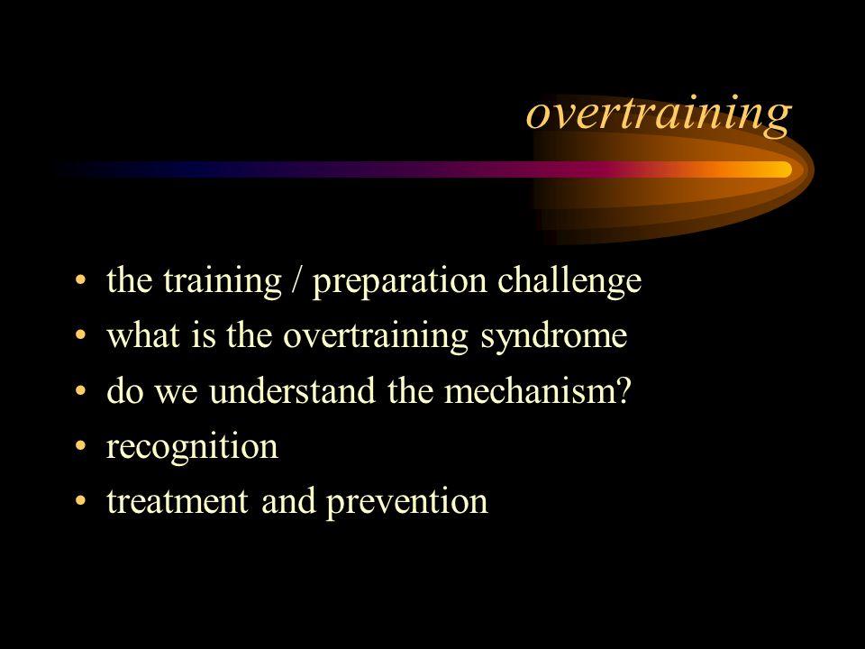 overtraining the training / preparation challenge