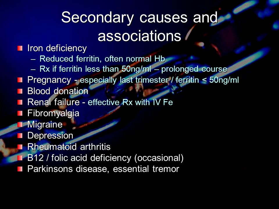 Secondary causes and associations