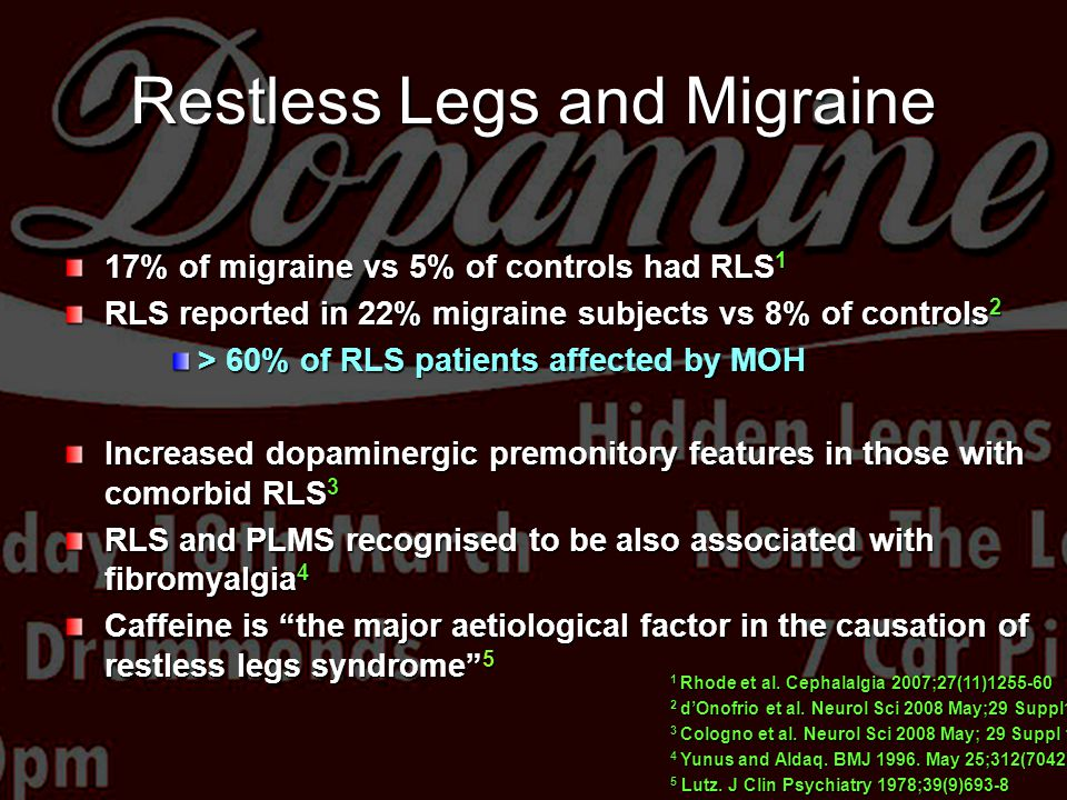 Restless Legs and Migraine