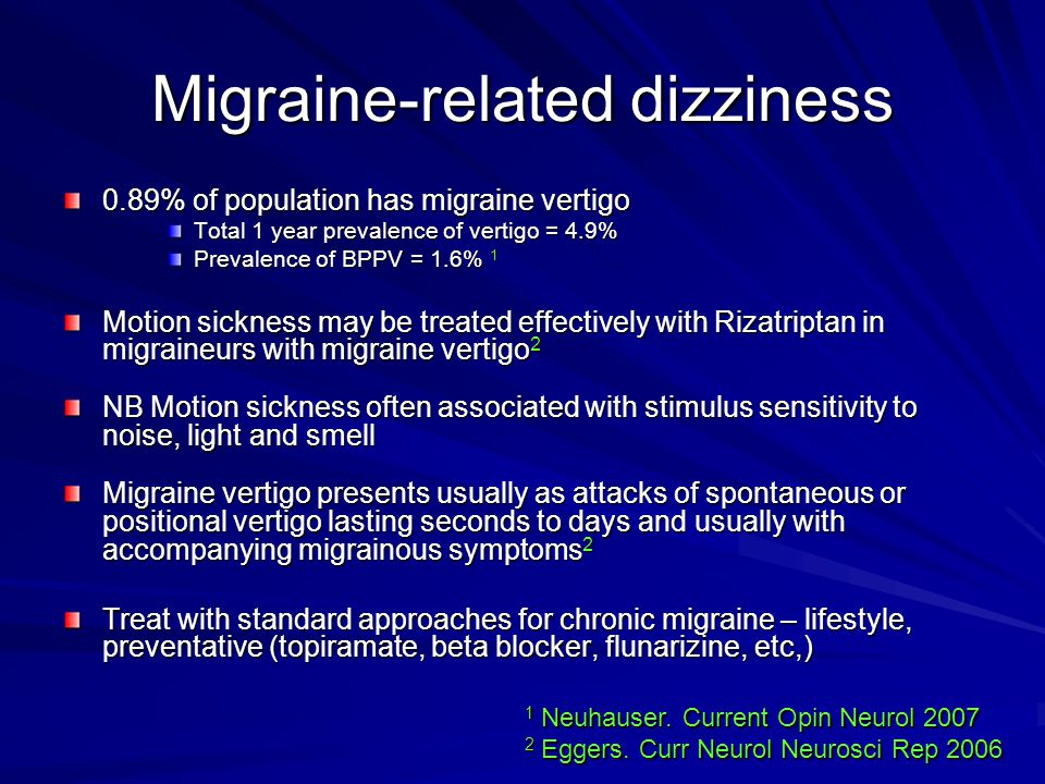 Migraine-related dizziness