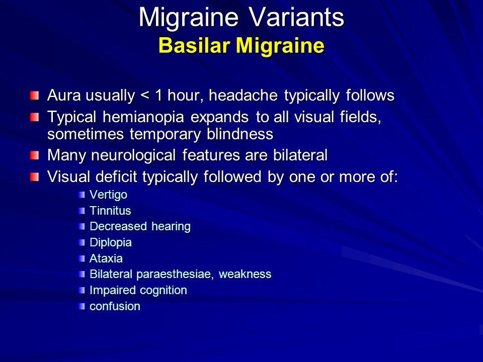 Migraine Variants Basilar Migraine