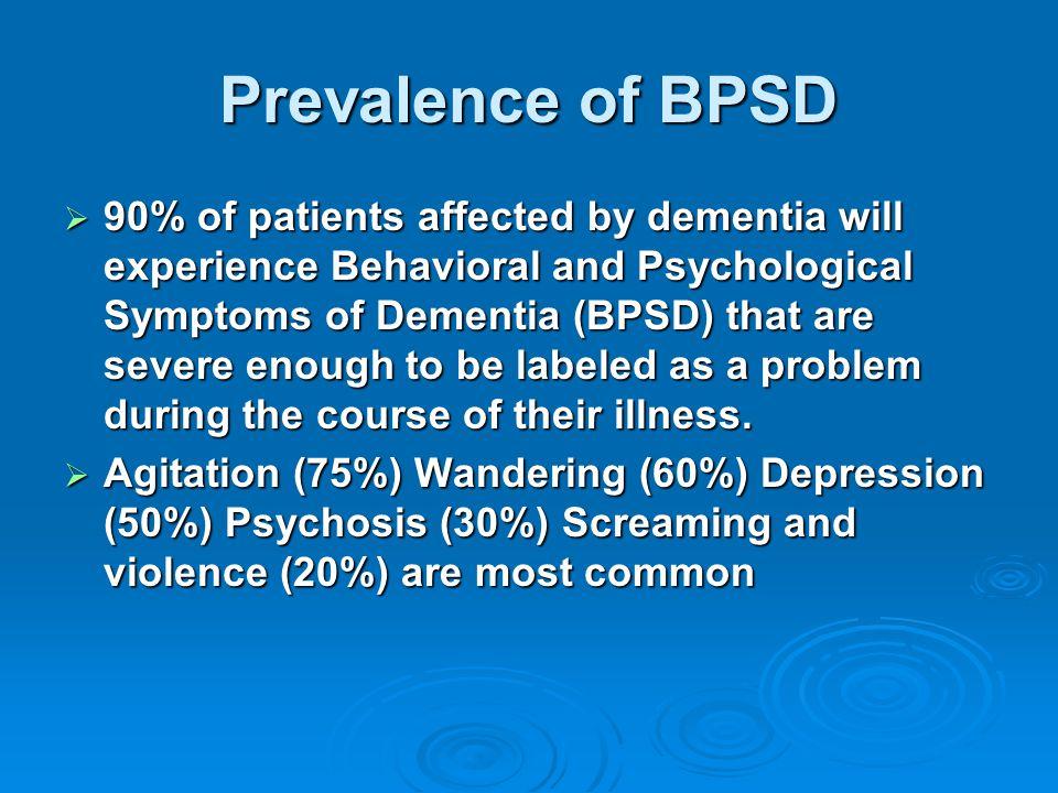 Prevalence of BPSD