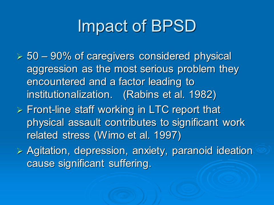 Impact of BPSD