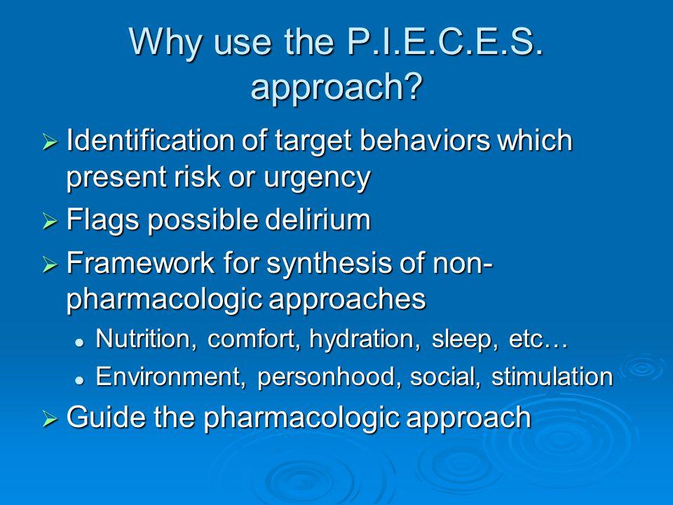 Why use the P.I.E.C.E.S. approach