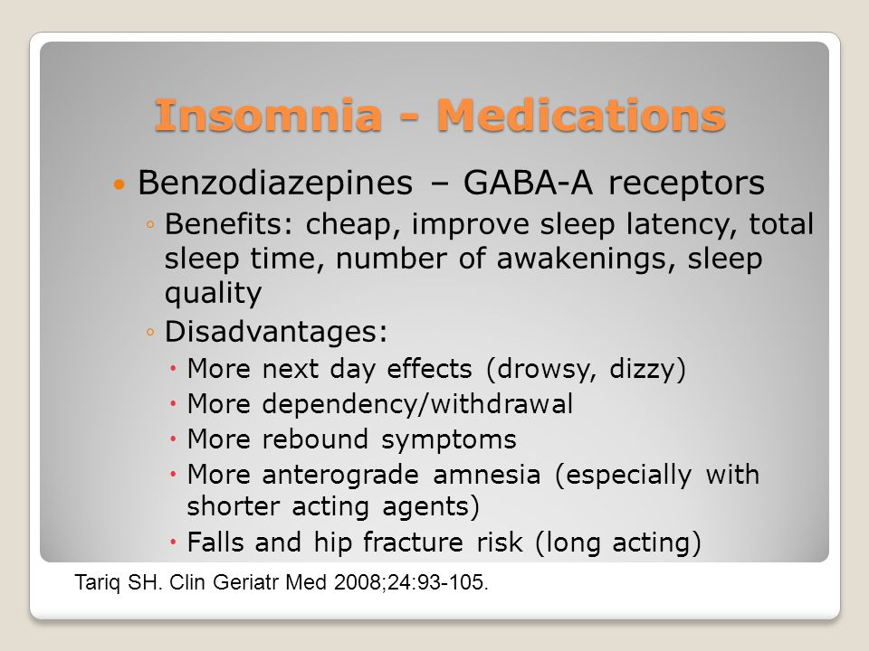 Insomnia - Medications