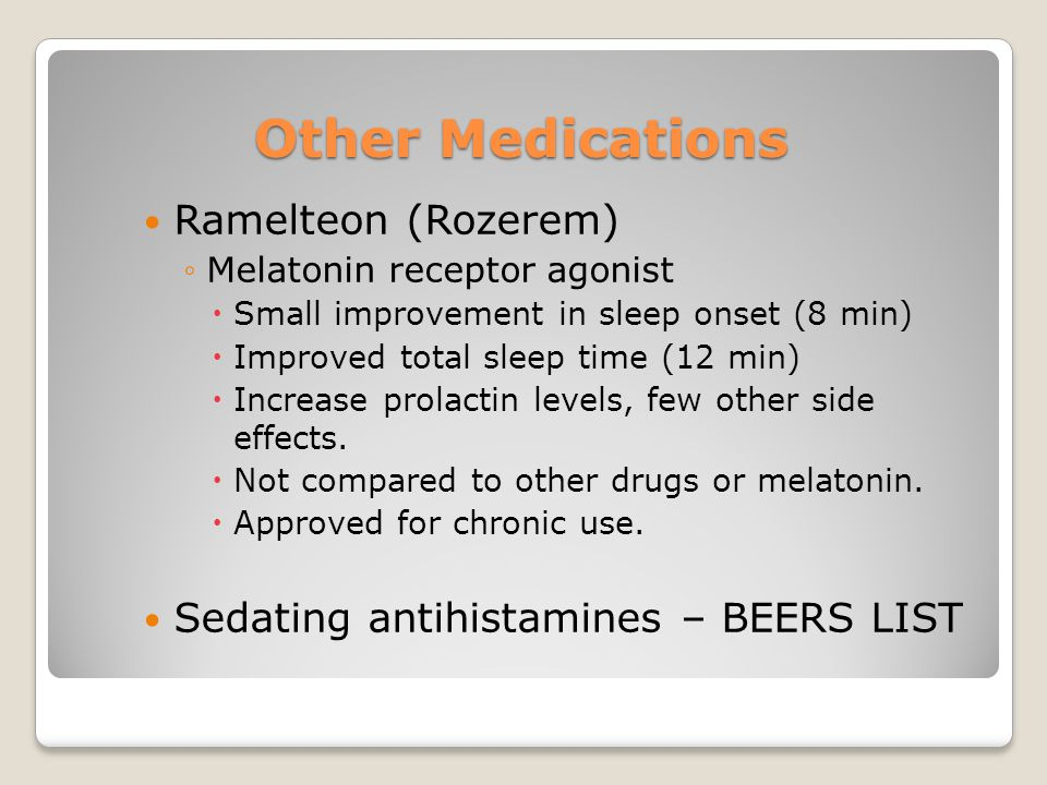 Other Medications Ramelteon (Rozerem)
