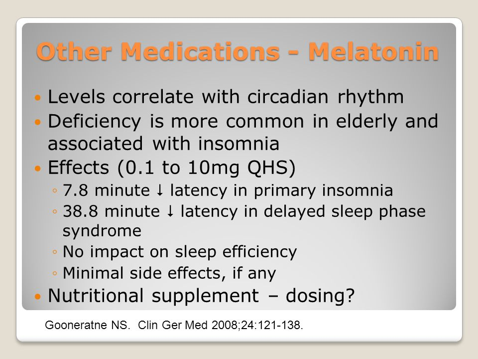 Other Medications - Melatonin