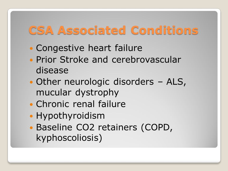CSA Associated Conditions