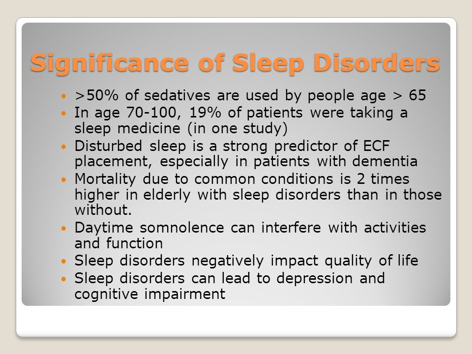 Significance of Sleep Disorders