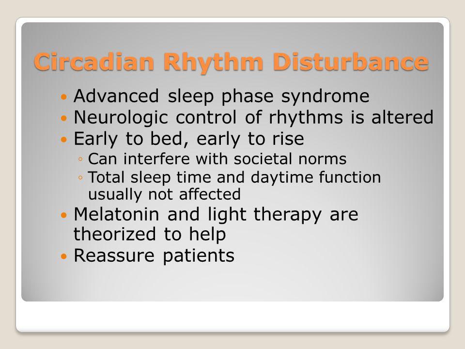 Circadian Rhythm Disturbance
