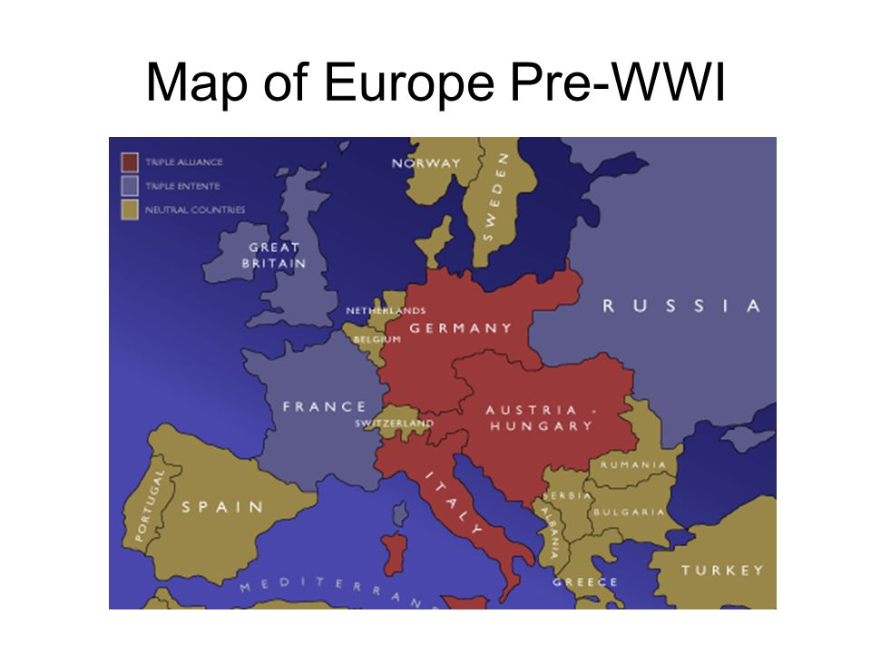 Map of Europe Pre-WWI