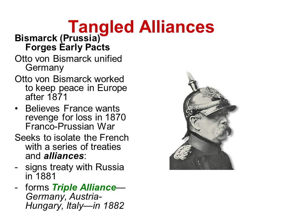 Tangled Alliances Bismarck (Prussia) Forges Early Pacts