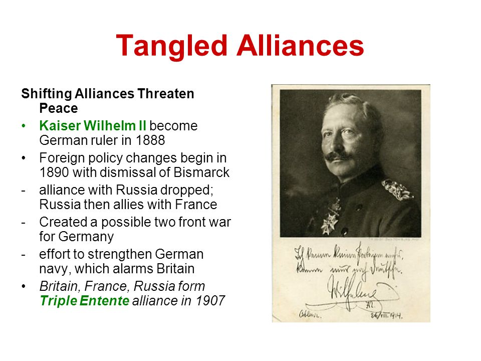 Tangled Alliances Shifting Alliances Threaten Peace