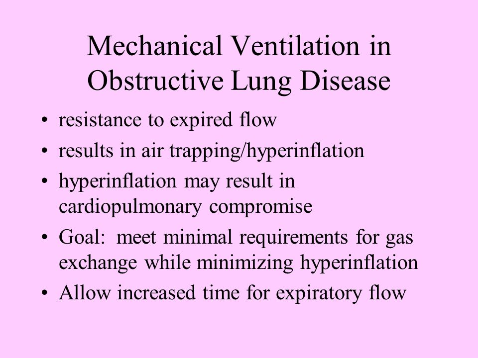 Mechanical Ventilation in Obstructive Lung Disease