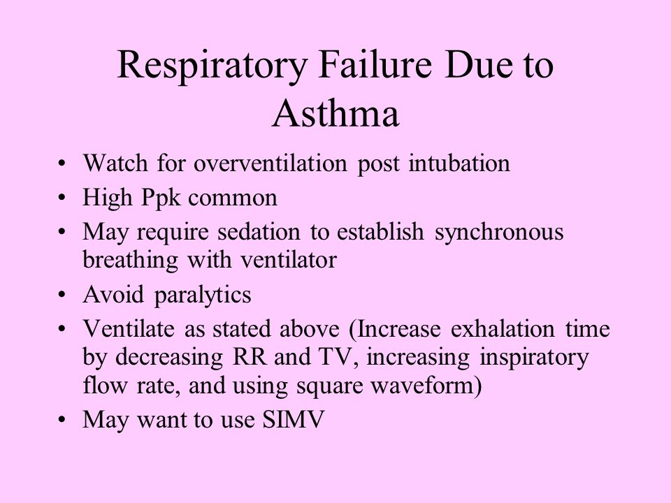 Respiratory Failure Due to Asthma