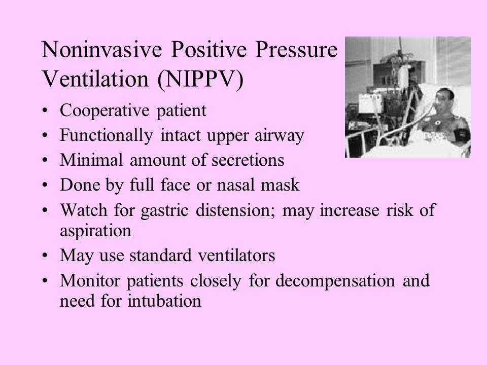 Noninvasive Positive Pressure Ventilation (NIPPV)