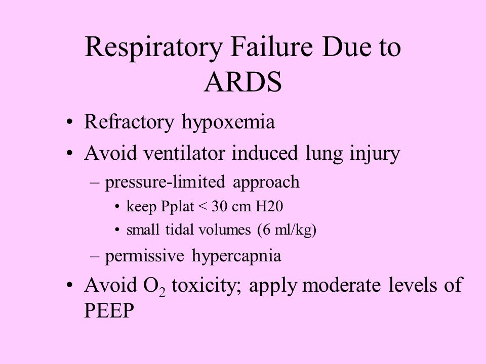 Respiratory Failure Due to ARDS
