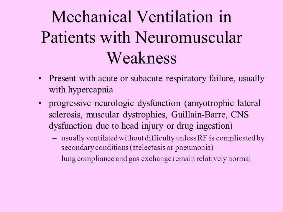 Mechanical Ventilation in Patients with Neuromuscular Weakness