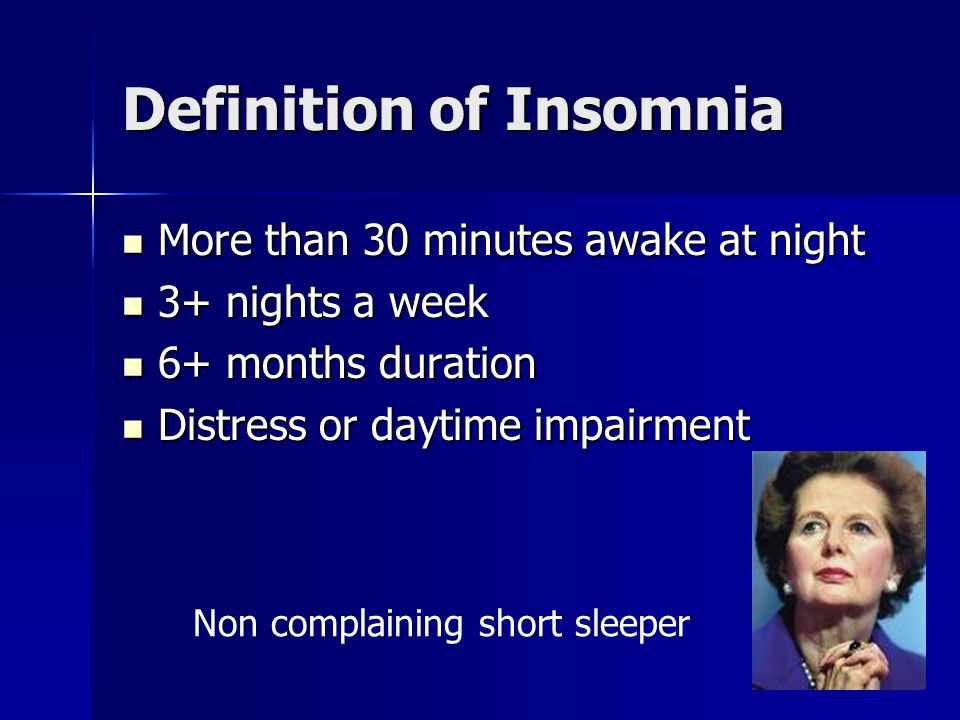 Definition of Insomnia