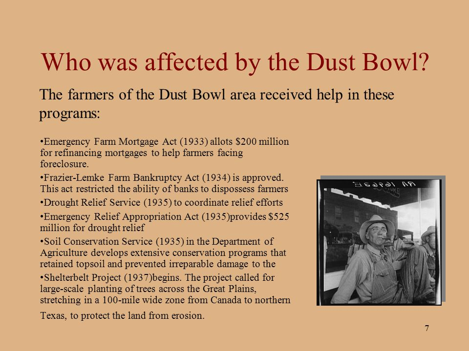 Who was affected by the Dust Bowl