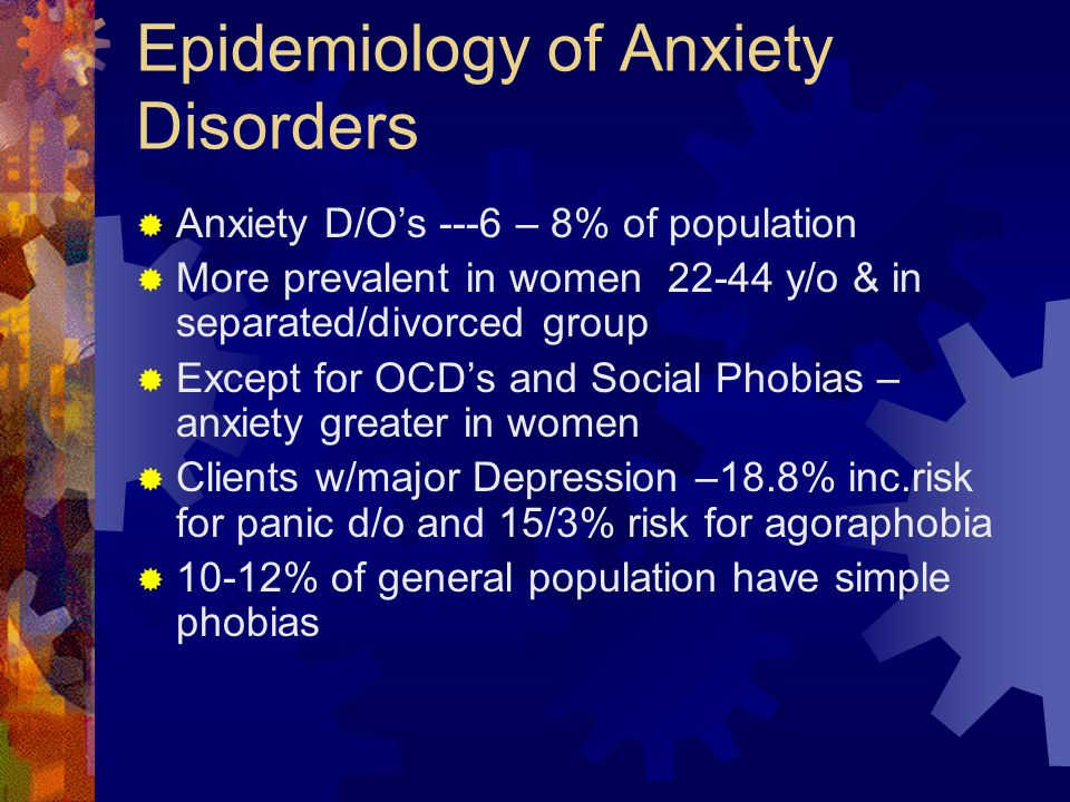 Epidemiology of Anxiety Disorders