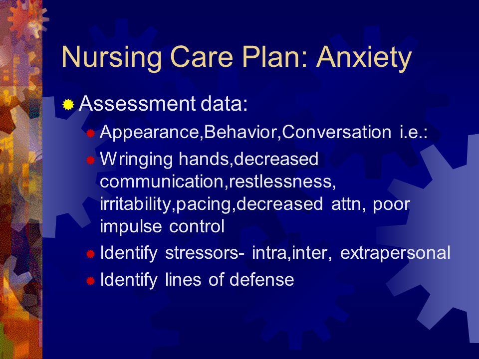 Nursing Care Plan: Anxiety