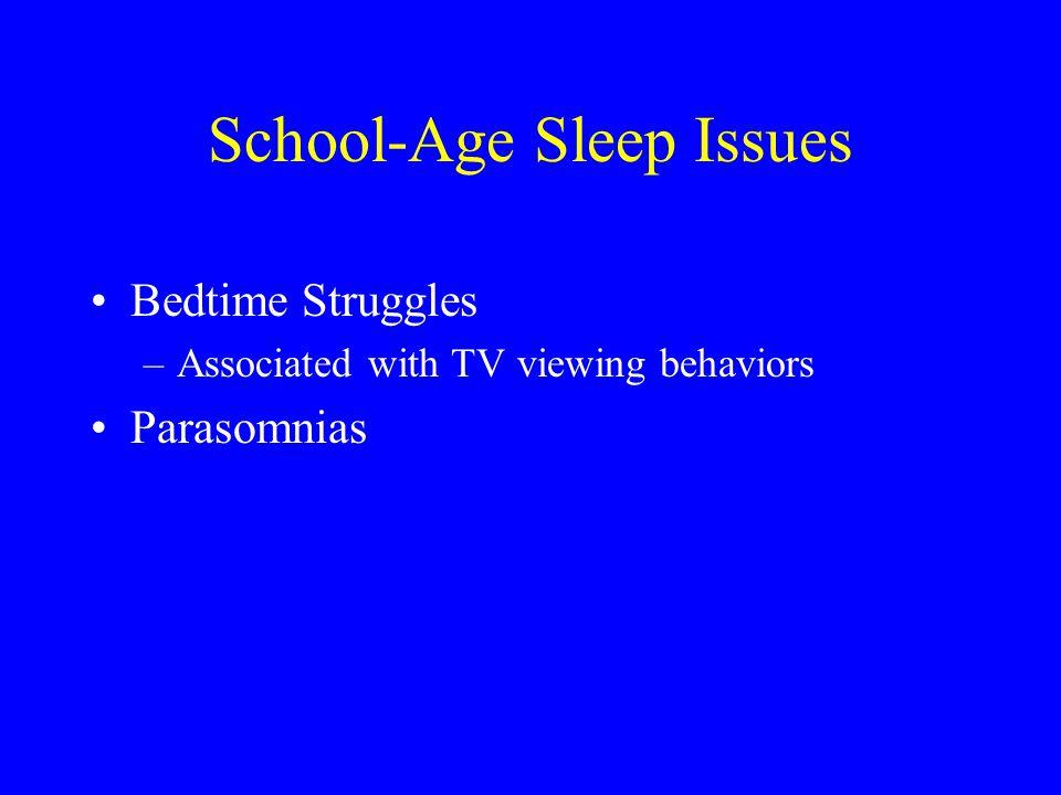 School-Age Sleep Issues