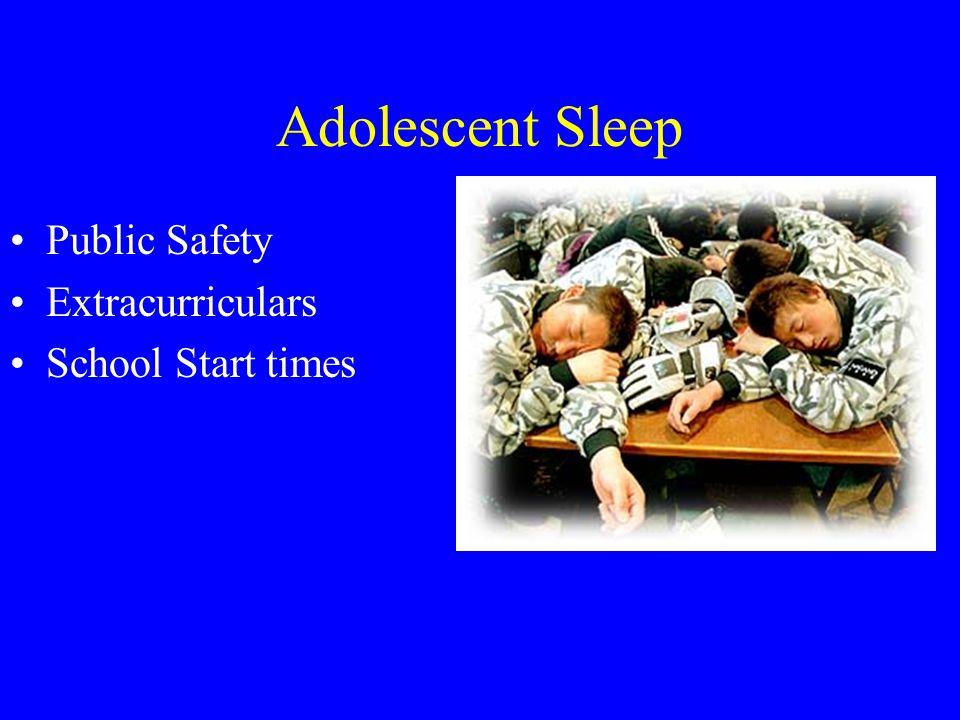 Adolescent Sleep Public Safety Extracurriculars School Start times