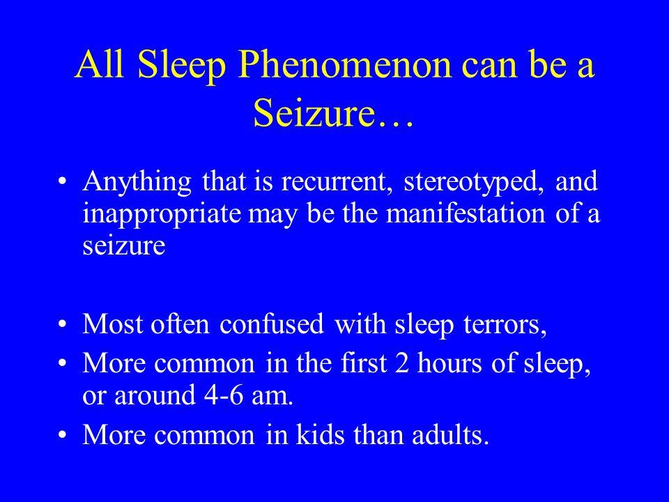All Sleep Phenomenon can be a Seizure…